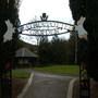 Entrance to the Beatrix Potter Garden, Birnam, Dunkeld, Perthshire, Scotland.