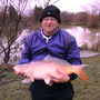 Ray had to fight for this one  Mirror Carp  12lbs 9ozs