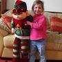 Chloe and Santa's Helper