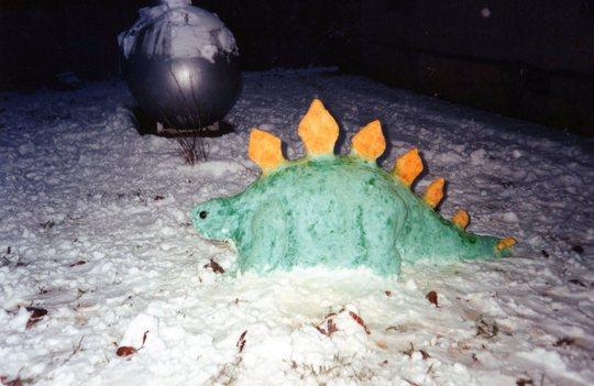 Snow Stegosaurus