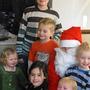 Santa Ray with all our small Grandchildren