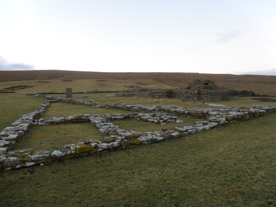 REMAINS OF A NORSE SETTLEMENT AT  BIRSAY ORKNEY ISLES