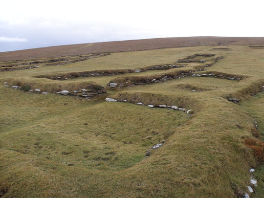 REMAINS OF PICTISH VILLAGE AT BIRSAY ORKNEY ISLANDS