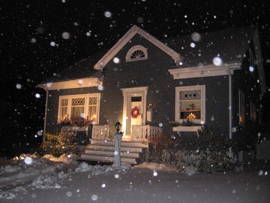 a snowy eve