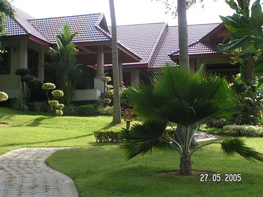 A Very typical front garden in Thailand. Not!!!!