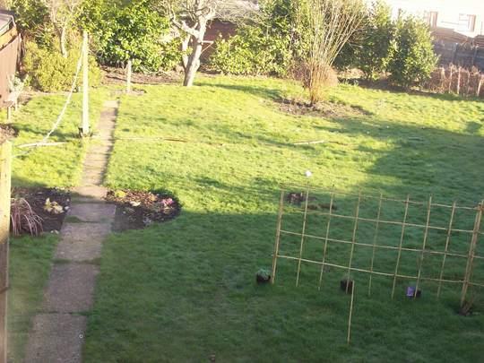 Middle Veiw Of My Garden In Feb 08