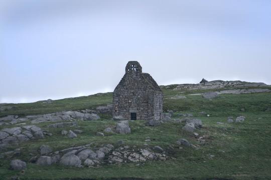 old building on island  off the coast of Dublin