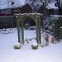 And another view of the garden clothed in the white stuff.
