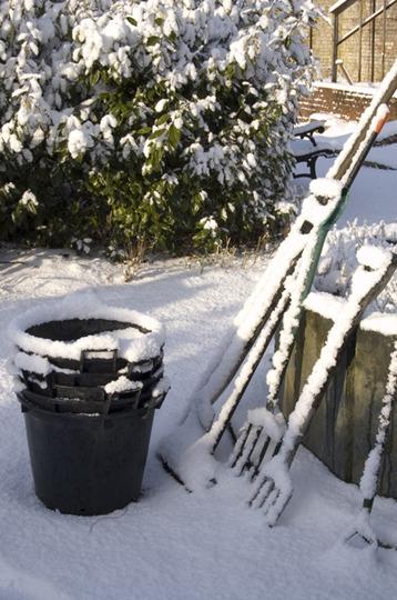 No gardening today!