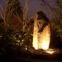 garden nightshot of water feature