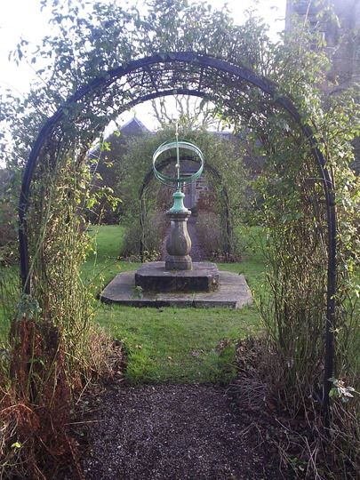 Armillary Sphere Sundial Kellie Castle garden Grows on You