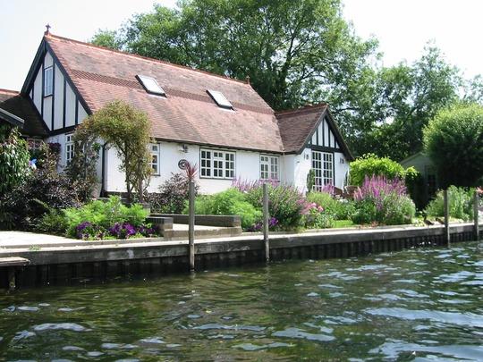Island Cottage front garden - in summer