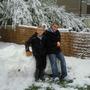 dan & brad in our snowey garden