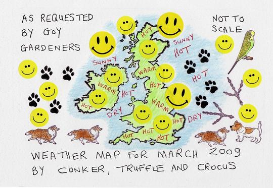 WEATHER MAP  ~ HOT AND DRY  :o)