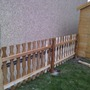 new fence, part painted