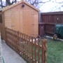 another coat of stain needed, and a gate
