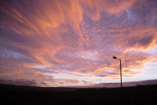 Haworth sky at sunset 2009