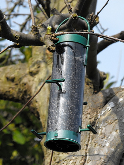 My New Niger Feeder for The Gold Finches :)