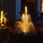 nightime water feature