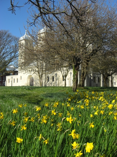 The grounds of Portsmouth Cathedral