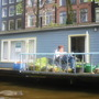 another house boat garden