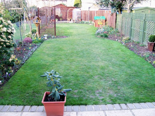 neat and tidy after first grass cut