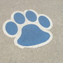 Wildcat pawprint on sidewalk.  lol