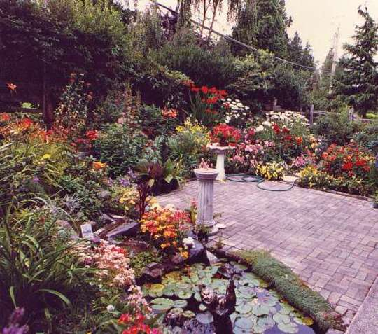 Our Bit of Heaven on Earth, sunken patio area years ago