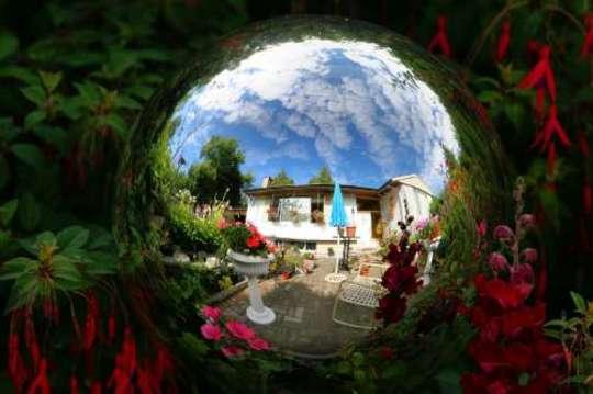 House & Garden in the Gazing Ball