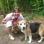 "our daughter:""Mariëlle"" and our Beagle: "" Thobias"""