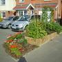 Veg garden at front