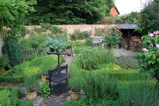 Avenue Cottage - The herb garden