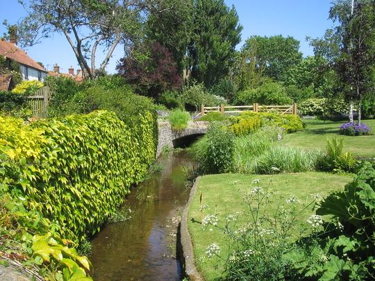 Stream through the garden at Spritzhenry's Open Day