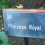 Rose garden sign - Regent's Park - June 2009