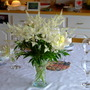 Peonies and astilbe for the table (Paeonia lactiflora (Peony), astilbe)