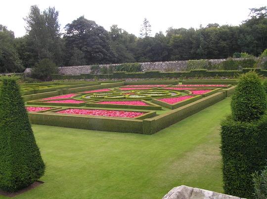 One of the four parterres at Pitmedden Garden (NTS)