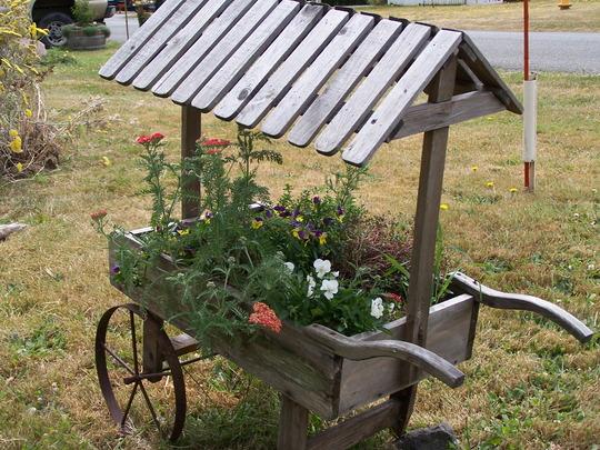 Small Garden Ideas Flower Cart