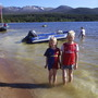 Cooling off in Loch Morlich (31 degreesC), May 31st 2009