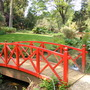 Abbotsbury Gardens, Dorset Red Bridge over the Lake