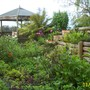 herb garden and gazebo