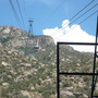 Cables that sustain the tram.  Yes, the cable car sways a little.