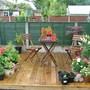 rainy deck