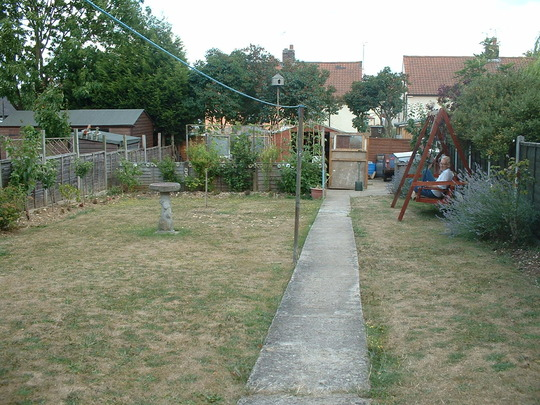 Back Garden when we moved in 2005