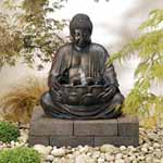 Solar-on-Demand Buddha Fountain