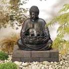 Solar-on-Demand Buddha Fountain