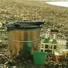 Portable barbecue bucket