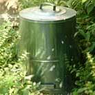 Galvanised composter