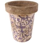 Aged ceramic long tom pot