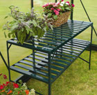 Heavy duty 2 tier greenhouse staging