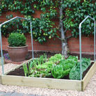 Timber grow bed accessory   pair of steel Support Hoops